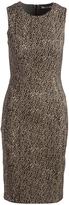 Three Dots Tan Leopard Bryce Sheath Dress