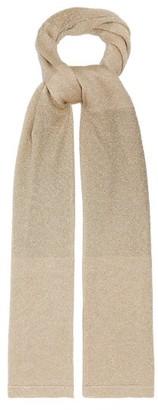 Missoni Metallic Crochet-knitted Shawl - Womens - Gold