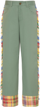Monse Fringed Mid-Rise Straight-Leg Pants