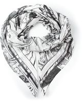McQ by Alexander McQueen manga print scarf