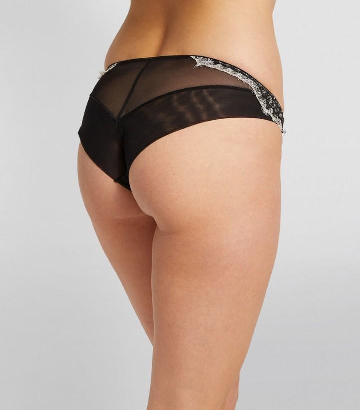 Thumbnail for your product : KATHERINE HAMILTON Satin-Lace Mariella Bikini Briefs