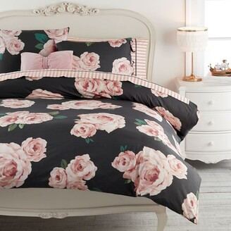 Pottery Barn Teen Emily & Meritt Bed of Roses Twin XL Duvet Total Package