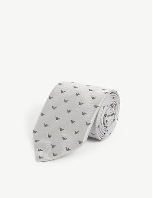 Emporio Armani Logo-print silk tie