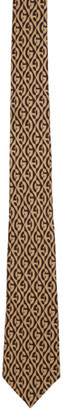 Gucci Beige and Brown G Print Tie