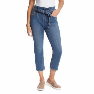 Gloria Vanderbilt Women's Size Paperbag Straight Leg Cropped Jean