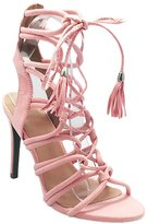 Wild Diva Women's Berlin 72 Gladiator Strappy Lace Up Tie High Heel