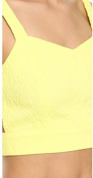 J.O.A. Bustier Top with Cutout Back