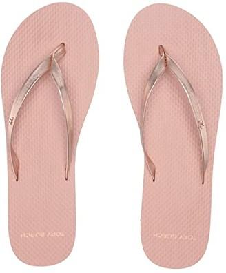 Tory Burch Metallic Leather Flip-Flop (Rose Gold/Rose) Women's Sandals