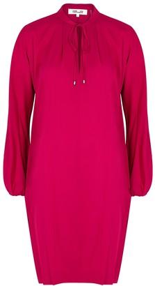 Diane von Furstenberg Jessica fuchsia silk-blend tunic dress