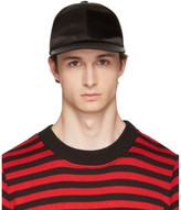 Acne Studios Black Camp Bomber Cap