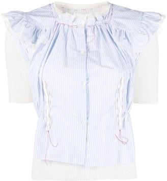 Maison Margiela Pointelle Knitted Shirt Jumper