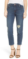 See Thru Soul Fray Hem Straight Leg Jeans (East Santa Monica)