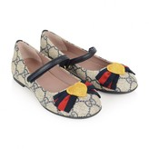 Gucci GUCCIGirls Beige & Navy GG Shoes