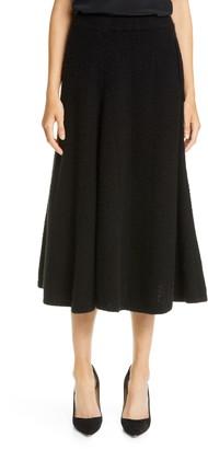 Adam Lippes Herringbone Cashmere & Silk Skirt