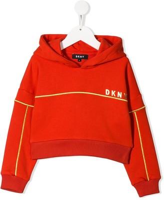DKNY cropped logo hoodie