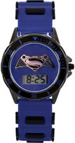 DC COMICS DC Comics Batman vs. Superman LCD Dial Black and Blue Silicone Strap Watch