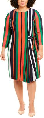 London Times Plus Tie-Detail Shift Dress