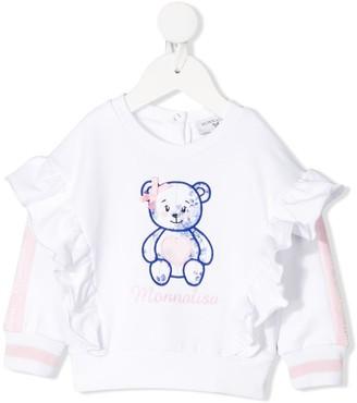 MonnaLisa Ruffled Teddy Bear Sweater