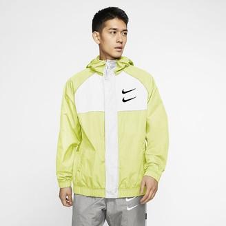 Nike Men's Woven Hooded Jacket Sportswear Swoosh