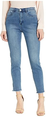 FDJ French Dressing Jeans Statement Denim Ombre Side Seam with Embroidery Suzanne Slim Ankle in Indigo (Indigo) Women's Jeans