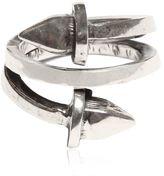 Emanuele Bicocchi Silver Pyramid Spring Ring