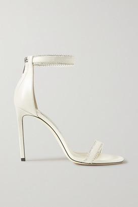 Jimmy Choo Dochas 100 Crystal-embellished Leather Sandals - Ivory