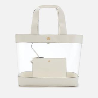 Lauren Ralph Lauren Women's Clear Tote Bag - Vanilla