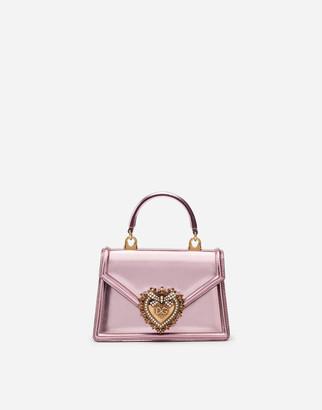 Dolce & Gabbana Small Devotion Bag In Mordore Nappa Leather