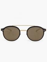 Mykita Black 'crosby' Stainless Steel Sunglasses