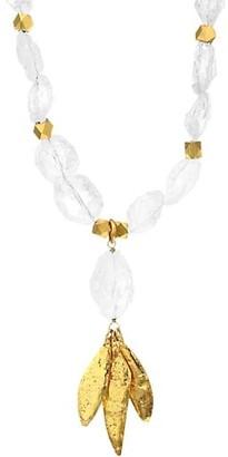 Sylvia Toledano 22K Goldplated & Crystal Beaded Necklace