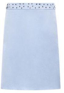 HUGO Mini skirt in stretch fabric with studded waistband