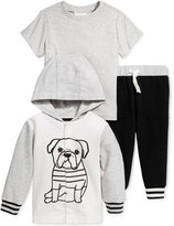 First Impressions 3-Pc. Dog Hoodie, T-Shirt & Jogger Pants Set, Baby Boys (0-24 months), Only at Macy's