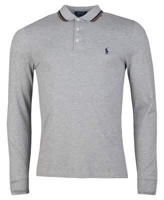 Polo Ralph Lauren Custom Slim Fit Tipped Polo Shirt Colour: GREY, Size
