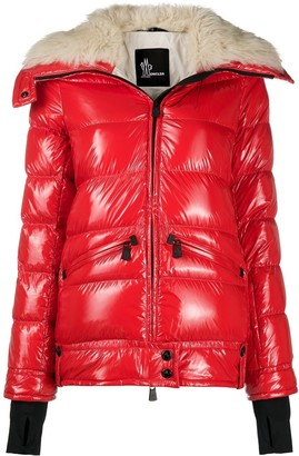 MONCLER GRENOBLE Arabba shearling-neck puffer jacket