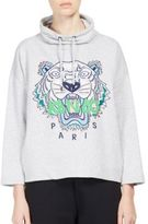 Kenzo Embroidered Tiger Icon Funnelneck Sweatshirt