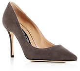 Sergio Rossi Women's Suede Pointed Toe Pumps
