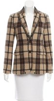Tory Burch Plaid Wool Blazer
