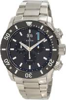Edox Men's Chronoffshore 45mm Steel Bracelet & Case Sapphire Crystal Quartz Black Dial Watch 10021-3-NBU