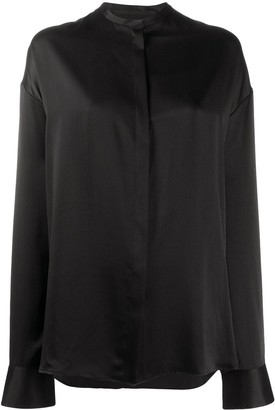 Haider Ackermann Mandarin collar silk shirt
