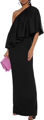 SOLACE London Lison One-shoulder Ruffled Taffeta And Crepe Maxi Dress