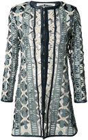 Caban Romantic - long ladder jacket - women - Leather/Polyimide - 38