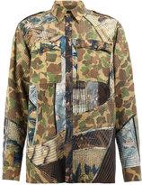 Dries Van Noten patchwork shirt