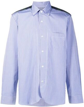 Junya Watanabe Contrast Panel Striped Buttoned Shirt