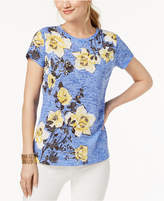 INC International Concepts Embellished Burnout T-Shirt, Created for Macy's