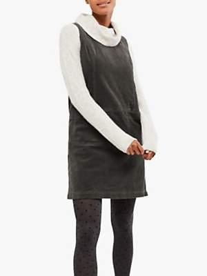 White Stuff Darcy Cord Pinafore Dress, Grey