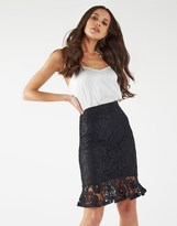 Lipsy All Over Lace Flute Hem Skirt