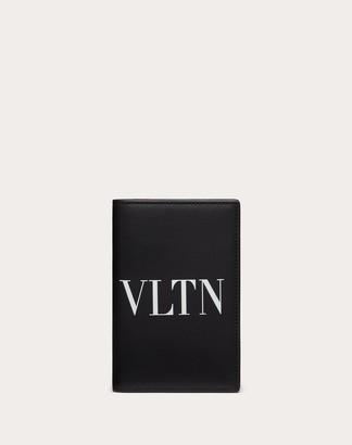 Valentino Uomo Vltn Passport Cover Man Black Bovine Leather 100% OneSize