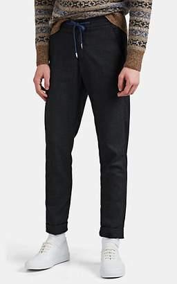 Marco Pescarolo Men's Caracciolo Wool-Cashmere Drawstring Pants - Gray