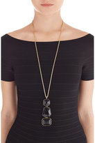 Kenneth Jay Lane Black and Gold-Tone Statement Necklace