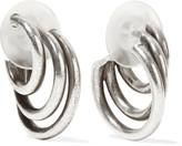 Dannijo Winona Oxidized Silver-tone Hoop Earrings - one size